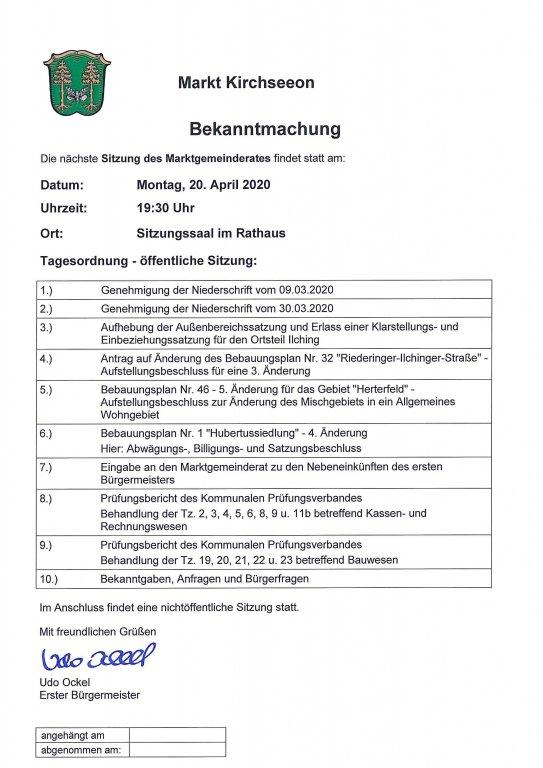Tagesordnung MGR 20.04.2020